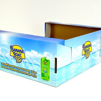 Die cut packaging Banana Boat