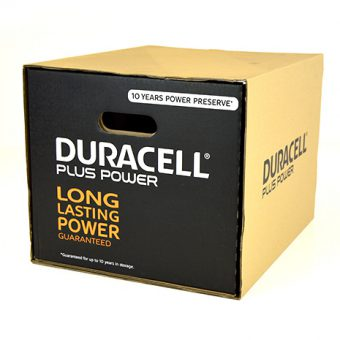 Die cut packaging Duracell.1
