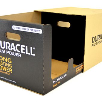 Die cut packaging Duracell.2